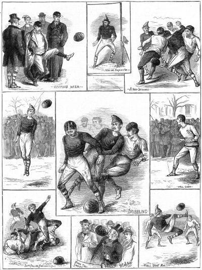 Scotland Vs. England Football Match, 1872--Photographic Print