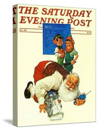 """""""Santa and the Robot,"""" Saturday Evening Post Cover, December 1, 1983"""