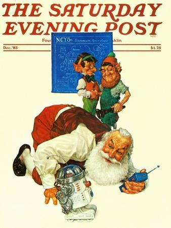 """Santa and the Robot,"" Saturday Evening Post Cover, December 1, 1983"