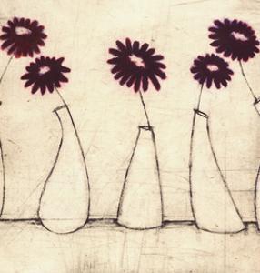 Five Purple Gerberas by Scott Olsen