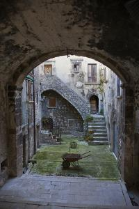 A Small Courtyard in the Hilltop Village of Santo Stefano Di Sessanio by Scott S^ Warren