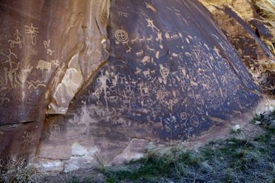 Detail of Newspaper Rock, a Large Panel of Petroglyphs, Both Prehistoric and Historic by Scott S^ Warren