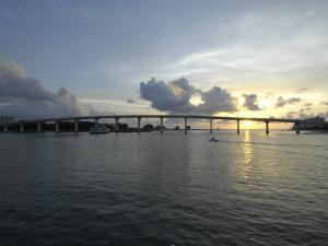 Clearwater Pass Bridge from Sand Key to Clearwater Beach at Sunset by Scott Sroka