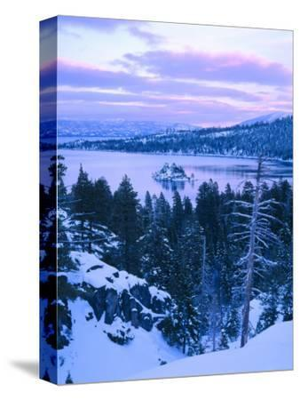 Emerald Bay State Park in Winter at Dusk, Lake Tahoe, California, USA