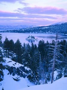 Emerald Bay State Park in Winter at Dusk, Lake Tahoe, California, USA by Scott T^ Smith