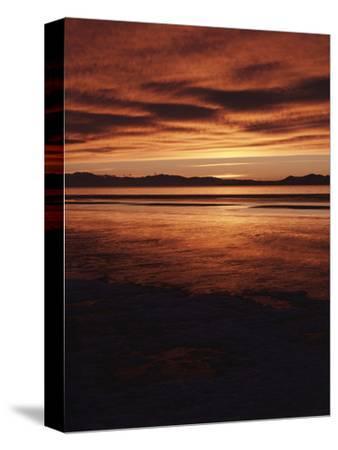 Farmington Bay, Great Salt Lake, Antelope Island, Stansbury Island, Great Basin, Utah, USA