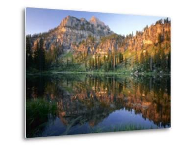 Mt. Magog Reflected in White Pine Lake at Sunrise, Wasatch-Cache National Forest, Utah, USA