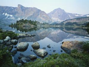 Mt Washakie Reflecting in Washakie Lake, Wind River Range, Popo Agie Wilderness, Shoshone National by Scott T. Smith