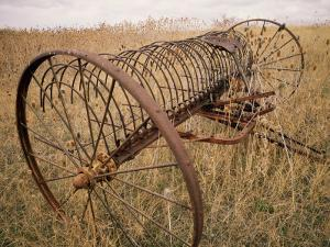 Old Hayrake & Teasle Near Preston, Cache Valley, Idaho, USA by Scott T. Smith