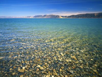 Pebbles in Bear Lake, Near Rendezvous Beach, Utah, USA