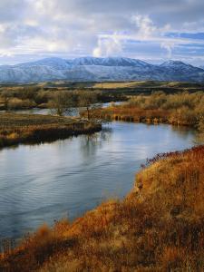 River Flowing Through Landscape, Bear River, Bannock Range, Cache Valley, Great Basin, Idaho by Scott T. Smith