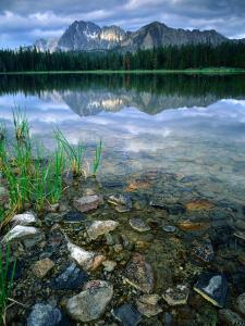 Rocky Shore of Frog Lake, Challis National Forest, Sawtooth National Recreation Area, Idaho, USA by Scott T^ Smith