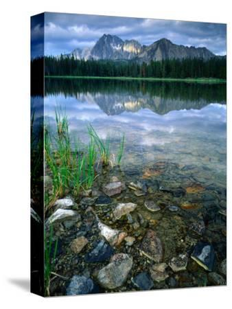 Rocky Shore of Frog Lake, Challis National Forest, Sawtooth National Recreation Area, Idaho, USA