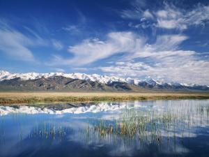 Ruby Mountains and Slough along Franklin Lake, UX Ranch, Great Basin, Nevada, USA by Scott T. Smith