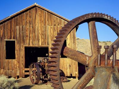 Rusting Machinery, Ghost Town of Berlin. Berlin-Ichthyosaur SP, Nevada by Scott T. Smith