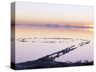 Spiral Jetty Above Great Salt Lake, Utah, USA