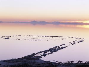 Spiral Jetty Above Great Salt Lake, Utah, USA by Scott T. Smith
