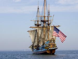 Tall Ship the Kalmar Nyckel, Chesapeake Bay, Maryland, USA by Scott T. Smith
