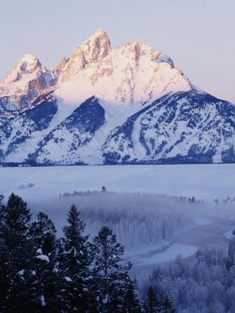 View of Grand Teton National Park in Morning, Wyoming, USA