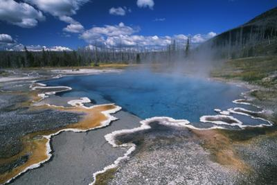 View of Hot Springs at Yellowstone National Park, Wyoming, USA