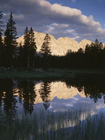 View of Reflecting Mountain in Bear River, High Uintas Wilderness, Utah, USA