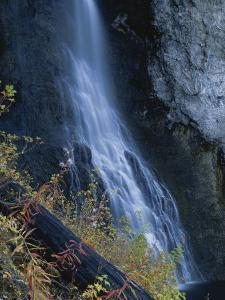 Waterfall Down Rock Face, Fairy Falls, Yellowstone National Park, Wyoming, USA by Scott T. Smith