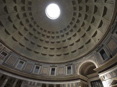 Light Shines Down from the Oculus in the Dome of the Pantheon