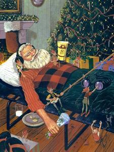 Snoozing Santa by Scott Westmoreland