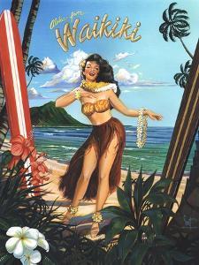 Waikiki Girl by Scott Westmoreland