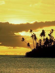 Sunset at Salani Village, Western Samoa by Scott Winer