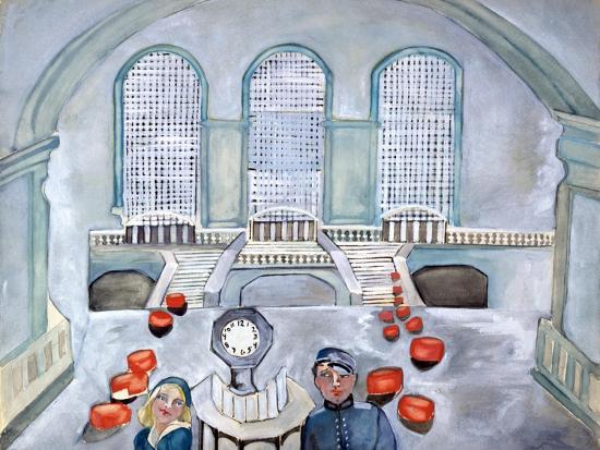Scottie and Jack Grand Central Time-Zelda Fitzgerald-Art Print