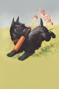 Scottie Dog with Bat