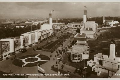 Scottish Avenue, Empire Exhibition, Glasgow, 1938--Photographic Print