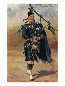 Scottish Bagpiper in Full Uniform