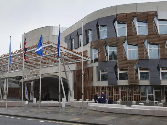 Scottish Parliament Building, Edinburgh, Scotland, Uk-Amanda Hall-Photographic Print