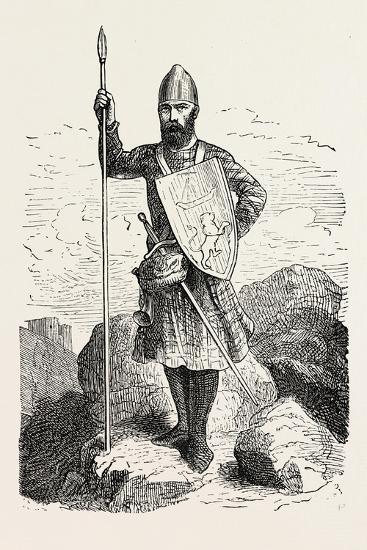 Scottish Soldier 12th Century--Giclee Print