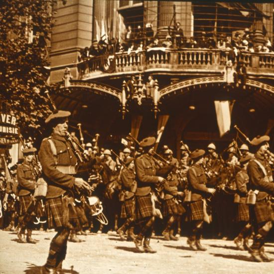 Scottish soldiers, 14 July 1919-Unknown-Photographic Print
