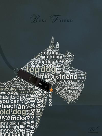 Scottish Terrier Best Friend-Dominique Vari-Art Print