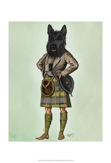 Scottish Terrier in Kilt-Fab Funky-Art Print