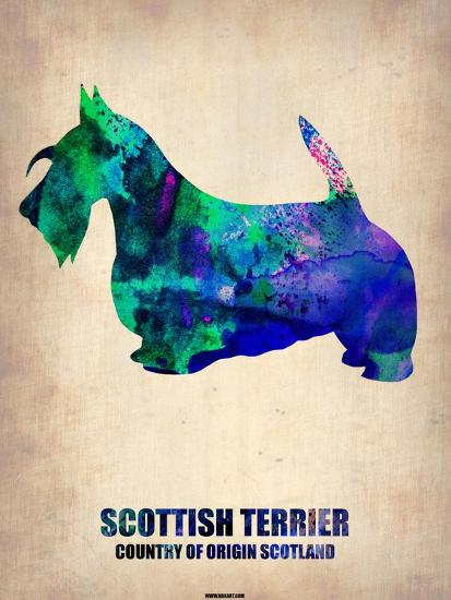 Scottish Terrier Poster-NaxArt-Art Print