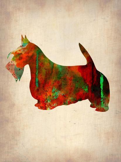 Scottish Terrier Watercolor 2-NaxArt-Art Print