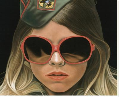 Scout - crop-Richard Phillips-Stretched Canvas Print