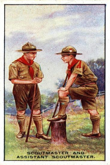 Scoutmaster and Assistant Scoutmaster, 1929-English School-Giclee Print