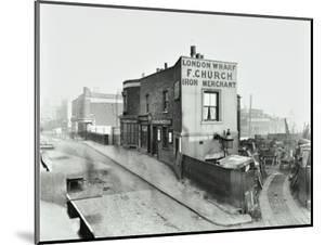 Scrapyard by Cat and Mutton Bridge, Shoreditch, London, January 1903
