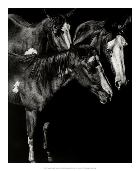 Scratchboard Blaze Buddies-Julie Chapman-Giclee Print