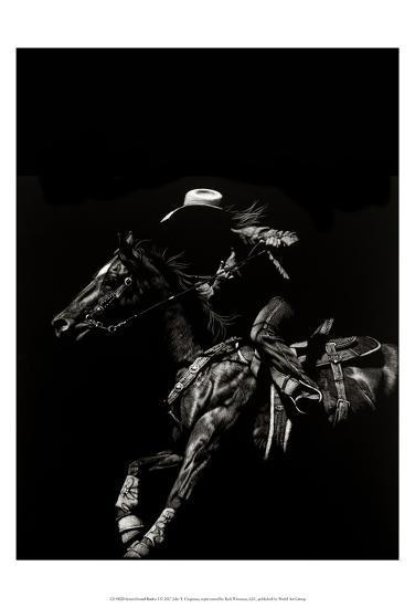 Scratchboard Rodeo I-Julie T. Chapman-Art Print