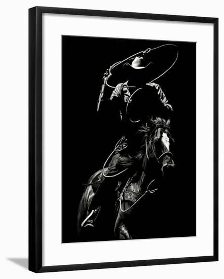 Scratchboard Rodeo VII-Julie Chapman-Framed Art Print