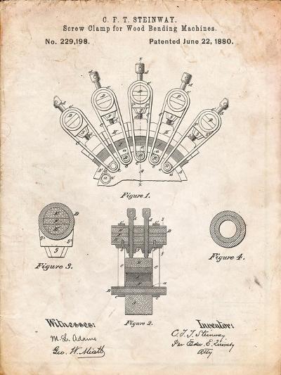 Screw Clamp 1880 Patent-Cole Borders-Art Print