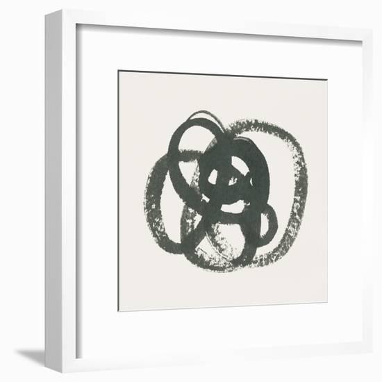 Scribbly Black I-Moira Hershey-Framed Art Print