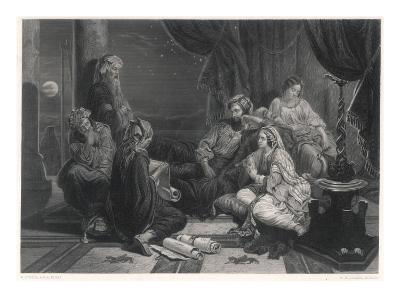 Scribes Read the Chronicles to Ahasuerus, King of Persia, as Mentioned in the Bible--Giclee Print